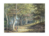 A Scene in Windsor Forest Giclee Print by Paul Sandby