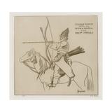 Bashkir Cossack, 1813-1814 Giclee-trykk av Raphael Jacquemin