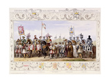 Procession to the Lists, 1843 Giclee Print by James Henry Nixon