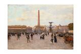 La Place De La Concorde Giclee Print by Luigi Loir