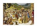 Everyday Life in an Inca Community Giclee Print by Mike White