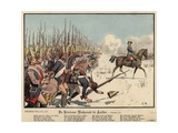 Prussian Infantry at the Battle of Leuthen Giclee Print by Carl Rochling