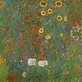 Farm Garden with Sunflowers, 1905-06 Impressão giclée por Gustav Klimt