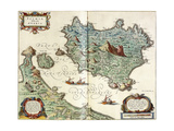 Ischia, 1642 Giclee Print by Willem And Joan Blaeu