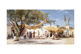 The Slave Market Giclee Print by Herman David Salomon Corrodi