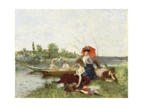 The Boating Party Giclee Print by Francesco Miralles Galaup