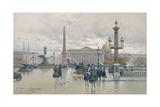 Place De La Concorde Giclee Print by Eugene Galien-Laloue