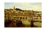 A View of the Ponte Vecchio, Florence Giclee Print by Antonietta Brandeis