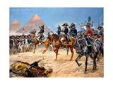 Bonaparte in Egypt, 21st July, 1798, 1911 Giclée-tryk af Richard Caton Woodville II