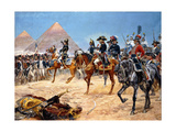 Bonaparte in Egypt, 21st July, 1798, 1911 Giclee Print by Richard Caton Woodville II