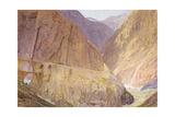 The Devil's Bridge- St Gothard's Pass Giclee Print by Alfred William Hunt