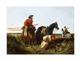 Trappers Following the Trail: at Fault, 1851 Giclee Print by Arthur Fitzwilliam Tait