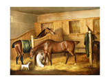 Hunters in a Stable with a Groom, 1809 Giclee Print by Thomas Weaver
