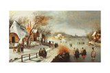 A Winter Landscape Giclee Print by Adam Van Breen