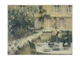 The Table in the White Garden at Gerberoy, 1900 Giclee Print by Henri Eugene Augustin Le Sidaner