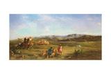 Gazelle Hunt in Chott El-Hodna, 1856 Giclee Print by Eugene Fromentin