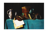Tabletop with Violin Giclee Print by John Frederick Peto