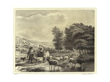 Landscape with Herders and Animals Giclee Print by Balthasar Paul Ommeganck