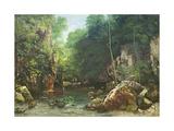 Gustave Courbet - The Covered Stream, or the Dark Stream, 1865 Digitálně vytištěná reprodukce