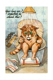 Taking the Waters as Seen by Louis Wain, C.1930 Giclee Print by Louis Wain