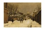 A Street Near Les Invalides, Paris Giclee Print by Luigi Loir