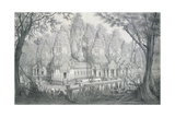 Ruins of Bayon, Cambodia, 1873 Giclee Print by Louis Delaporte