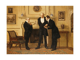 Figures in an Interior Giclee Print by Eugene-Louis Lami
