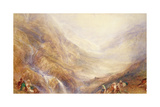Descent of Mount St. Gothard Giclee Print by Joseph Mallord William Turner