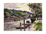 Outdoor Cafe on the Banks of the Oise, 1897 Giclee Print by Maximilien Luce