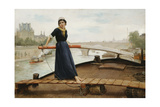 Along the Seine, 1879 Giclee Print by Henry Bacon