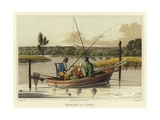 Fishing in a Punt Giclee Print by Henry Alken