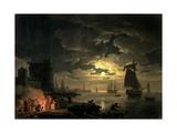 The Harbour of Palermo, 1750 Giclée-Druck von Claude Joseph Vernet