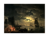 The Harbour of Palermo, 1750 Giclee Print by Claude Joseph Vernet