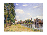 The Moret Bridge in the Summer, 1888 Giclee Print by Alfred Sisley
