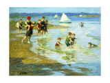 Children at Play on the Beach Giclee Print by Edward Henry Potthast