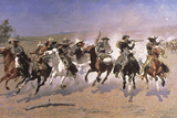 A Dash for the Timber Lámina giclée por Frederic Sackrider Remington