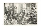 Jesus Casting the Moneylenders Out Ot the Temple Giclee Print by William Oliver