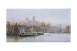 Lincoln Cathedral from the River Giclee Print by Walker Stuart Lloyd