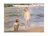 Afternoon Sun, Valencia Beach, 1910 Giclee Print by Joaquín Sorolla y Bastida
