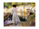 Maria Looking at the Fishes, Granja, 1907 Giclee Print by Joaquín Sorolla y Bastida