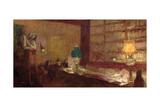 The Green Lamp, C.1898 Giclée-Druck von Edouard Vuillard