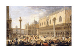 The Piazzetta, Venice, from the Bacino Giclee Print by Luca Carlevaris