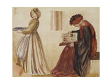 The Wedding of Sir Degrevaunt Giclee Print by Sir Edward Coley Burne-Jones