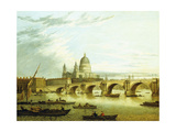 A View of Blackfriars Bridge with Saint Paul'S Giclée-tryk af John Paul