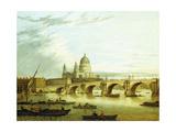 A View of Blackfriars Bridge with Saint Paul'S Giclee Print by John Paul
