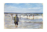 Bathers on the Seashore Giclee Print by Max Liebermann