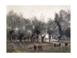 Women in a Field of Willows, 1860-65 Giclee Print by Jean-Baptiste-Camille Corot