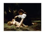 Young Woman and Child, 1881 Reproduction procédé giclée par William Adolphe Bouguereau