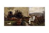 Luigi Tommasi in Garden, 1884 Giclee Print by Silvestro Lega