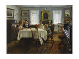 The Gilchrist Family at Breakfast, 1916 Giclee Print by William Wallace Gilchrist